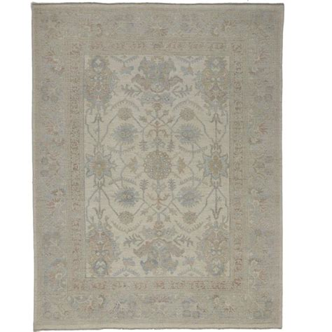 coastal design area rugs transitional oushak style area rug in muted coastal colors and modern design for sale at 1stdibs