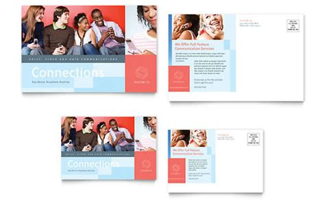 marketing postcard templates marketing agency postcard templates professional services