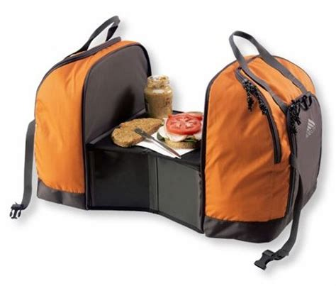 cool outdoor gadgets cing cooler bag with built in prep table craziest gadgets