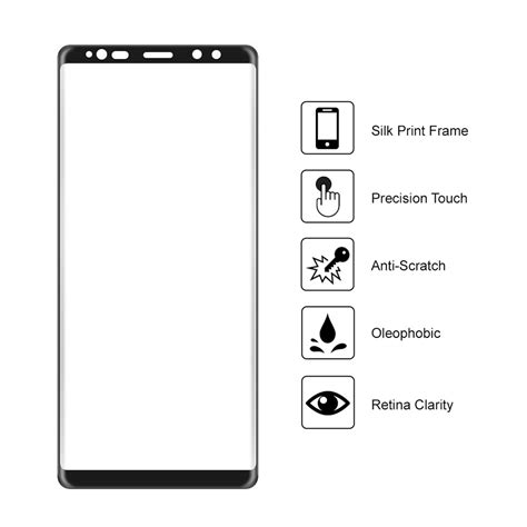 Samsung Galaxy Note 8 Half Frame Tempered Glass 3d Curved Black 3d Tempered Glass Screen Protector Samsung Galaxy