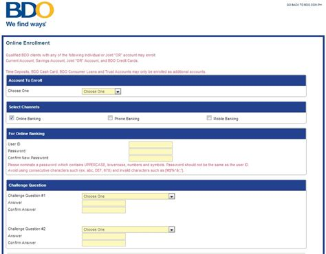 Bdo Gift Card - bdo credit card application form