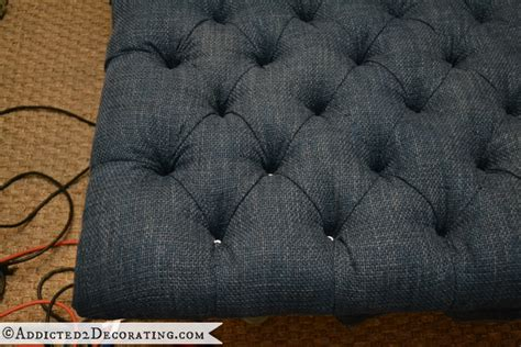how to do tufted upholstery diy ottoman coffee table part 1 how to do diamond tufting