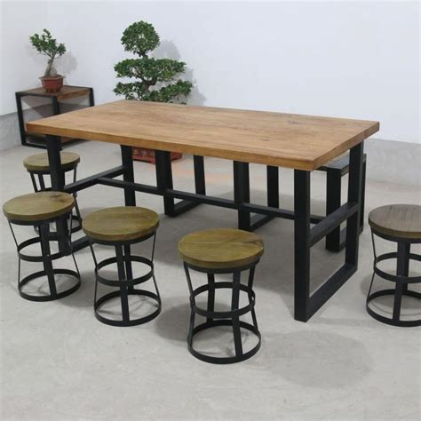 sofa dining table combined new american vintage wrought iron tables and chairs