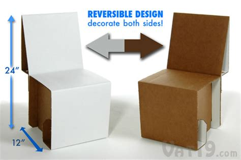 How To Make A Chair Out Of Cardboard by Elia Mini Cardboard Chair Kit Assemble Your Own