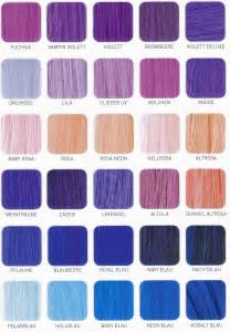 purple hair color chart shade charts for synthetic hair