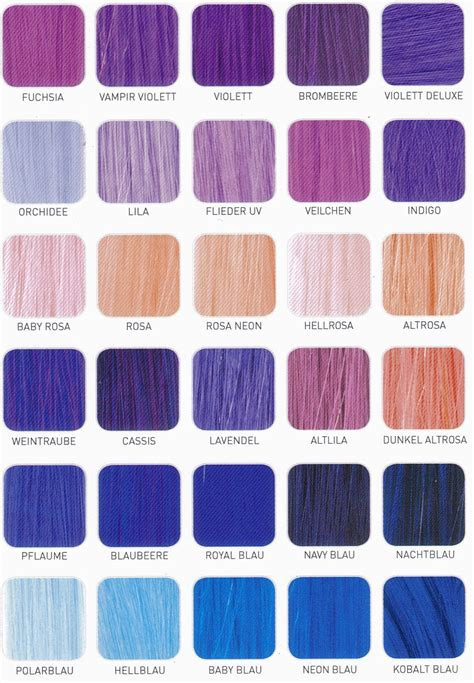 shades of purple color chart purple hair color chart shade charts for synthetic hair falls haircuts purple