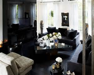 Black Living Room by 24 Fall Interior Design Trends