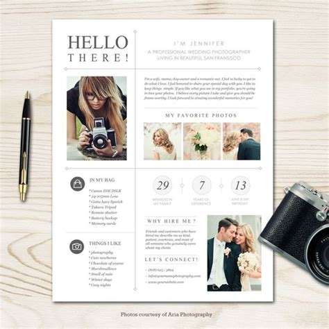 photography bio template moderna photographer bio template sdp branding ideas