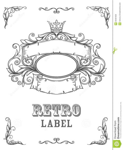 design banner retro vintage banner stock vector image of fabric engraving