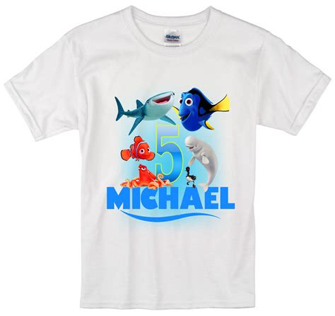 Personalized Shirts Finding Dory Birthday Shirt Personalized Custom Name Age