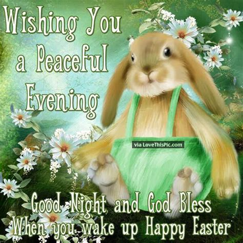 easter evening wishing you a peaceful evening tomorrow is easter pictures