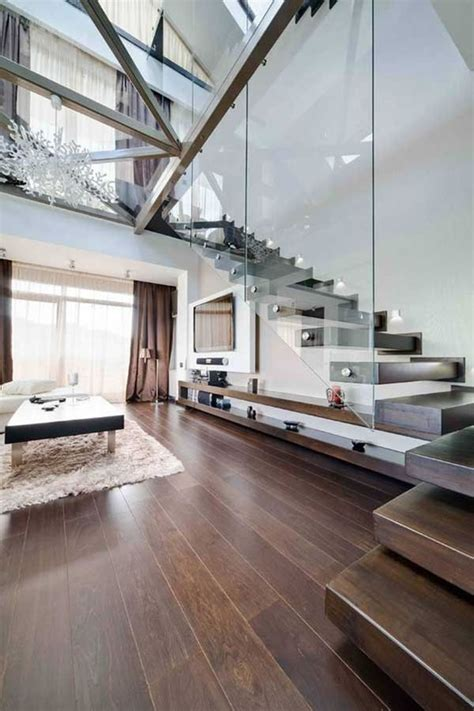 modern house with open sensation using glass walls loft 10 modern under stair storage solutions to spruce up your home