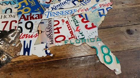 united states map made out of license plates diy tutorial license plate map of the united states