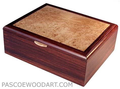 Handcrafted Box - handcrafted wood box valet box for cocobolo maple burl