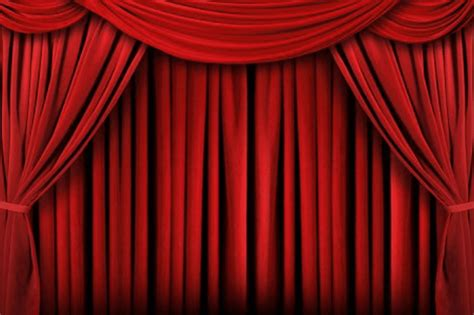 movie drapes the corner of terror the curtain rises and the lights
