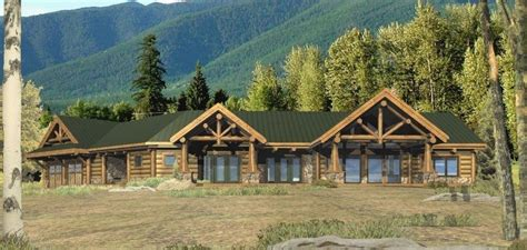 log home ranch floor plans lovely dunn ridge log homes