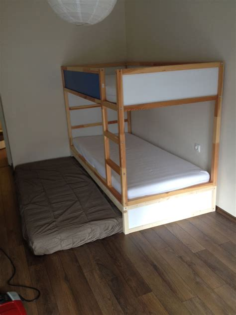 bunk bed hacks ikea kura double bunk bed extra hidden bed sleeps 3
