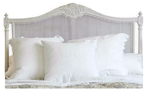 White Painted Headboard by Louis Xvi Country White Painted
