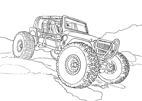 rc car coloring pages sketch coloring page