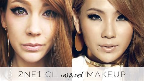 tutorial eyeliner cl 2ne1 2ne1 cl inspired makeup tutorial youtube