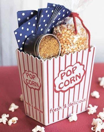 popcorn gift ideas for popcorn basket diy gift ideas
