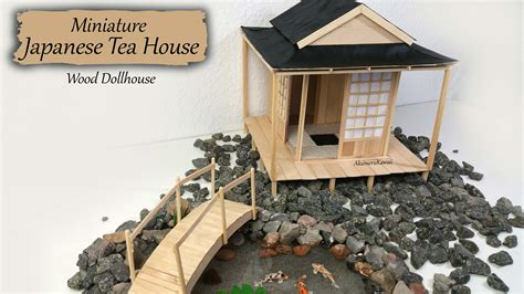miniature house miniature japanese tea house wood dollhouse tutorial youtube
