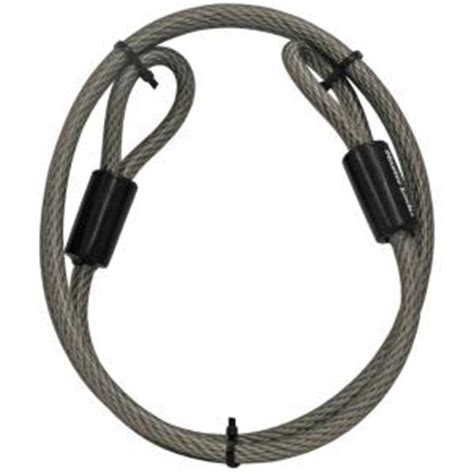 master lock 6 ft vinyl coated galvanized steel braided