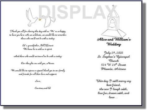 Free Church Program Templates by Wedding Program Templates From Thinkwedding S Print Your
