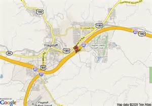 flagstaff arizona map map of rodeway inn suites flagstaff