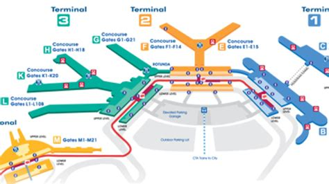 ord terminal map chicago ohare international airport terminal map for ord design bild