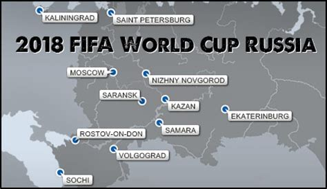 world cup 2018 host cities map 2018 fifa world cup russia