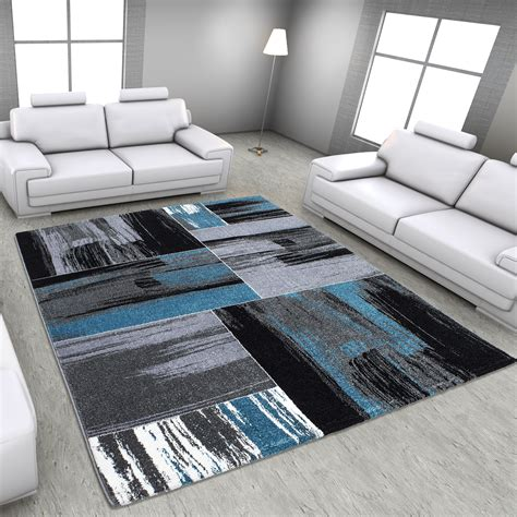 tapis salon tapis vintage blue pour salon