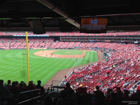section 136 busch stadium field level outfield busch stadium baseball seating