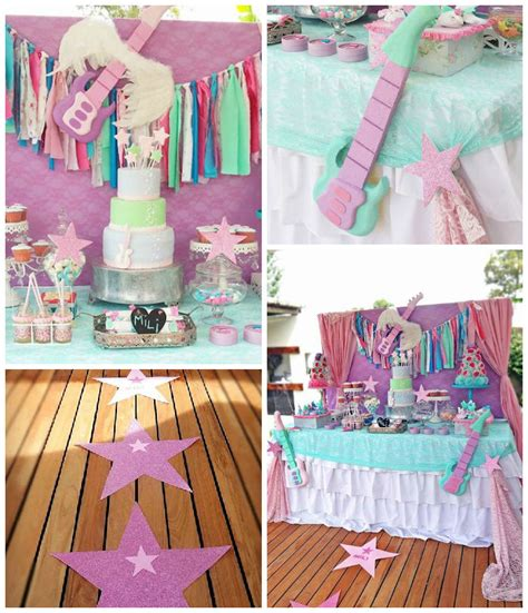 themed birthday party places kara s party ideas 187 chic rockstar themed birthday party