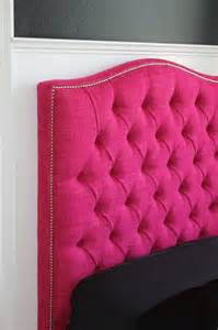pink tufted headboard upholstered furniture
