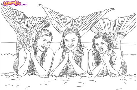 free h20 mermaids coloring pages