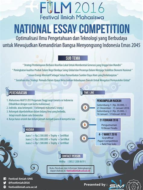 National Essay Writing Competition by National Essay Competition 171 Akumaru