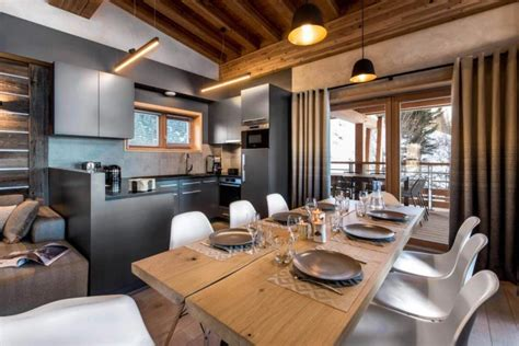 contemporary mountain style apartment  les arcs designed