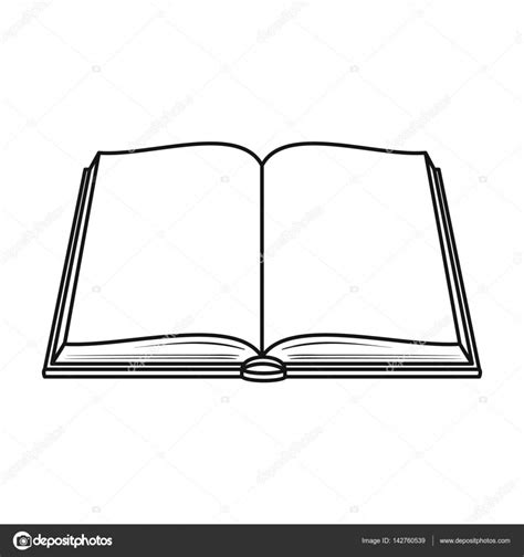 libro outline opened book icon in outline style isolated on white background books symbol stock vector
