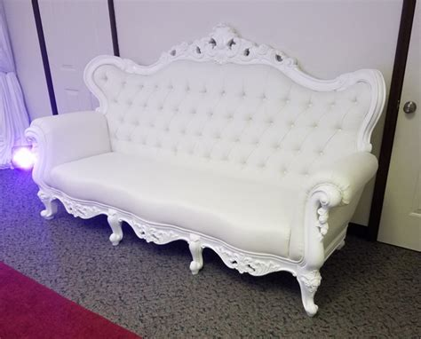 white victorian couch michigan white lounge furniture rentals couches thrones