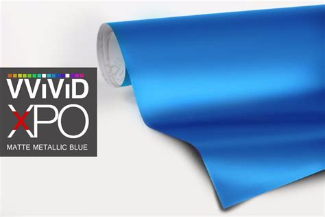 xpo matte metallic blue vinyl car wrap vvivid film decal