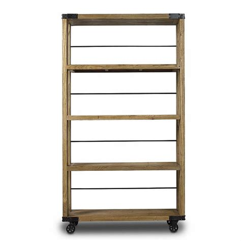 industrial bookcase on wheels slim industrial bookcase on wheels by out there interiors