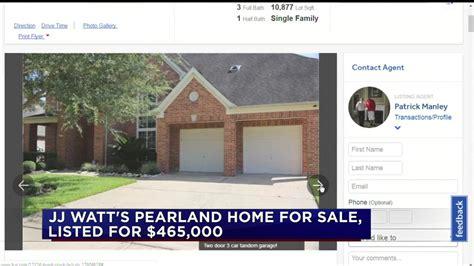 jj watts house jj watt puts pearland home on the market abc13 com