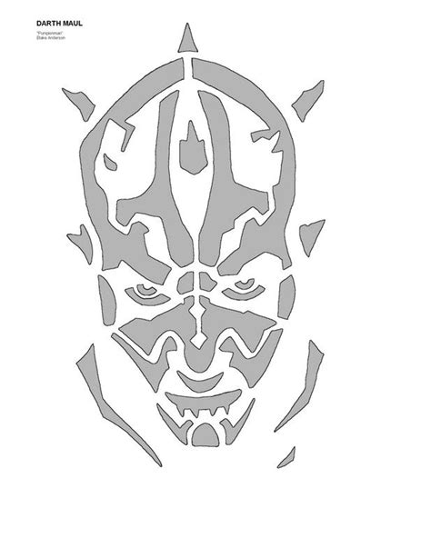 darth maul paint template darthmaul jpg photo by pumpkinman 01 photobucket