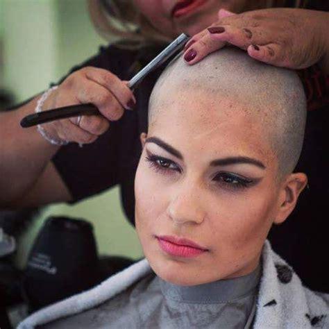 razor head shave girl pin by marshall eriksen on hajv 225 g 225 s pinterest bald