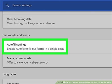 How to Delete Autofill on Chrome on PC or Mac (with Pictures)