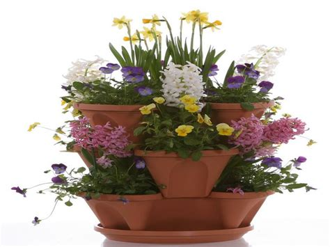 Orchid Planters Pots by Gardening Landscaping Stacked Planter Pots With Orchid