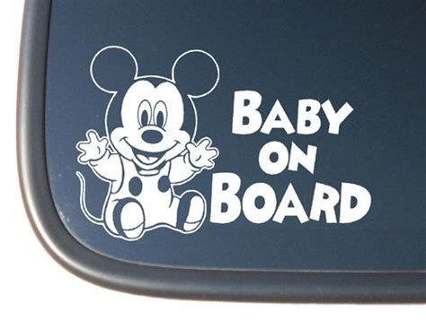 Autoaufkleber Baby Disney by Mickey Mouse Baby Quot Baby On Board Quot Vinyl Car Decal 3 99