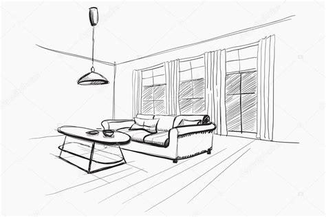sketch room living room interior sketch stock vector 169 avd 88 52406931