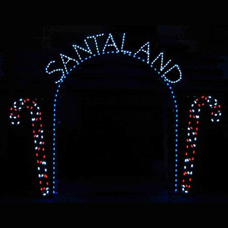 santa land here lighted sign santaland arch commercial led light display 12 w
